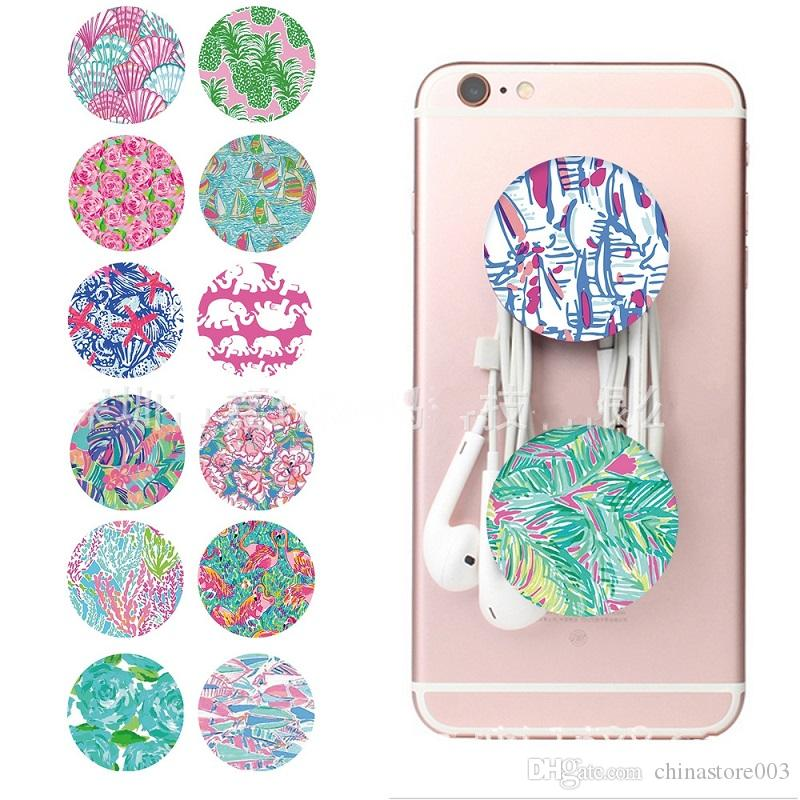 Finger Ring Holder Stand Lilly Pulitzer 360/° Rotation Grip Mounts Style Car Mount for All Cell Phones Tablets
