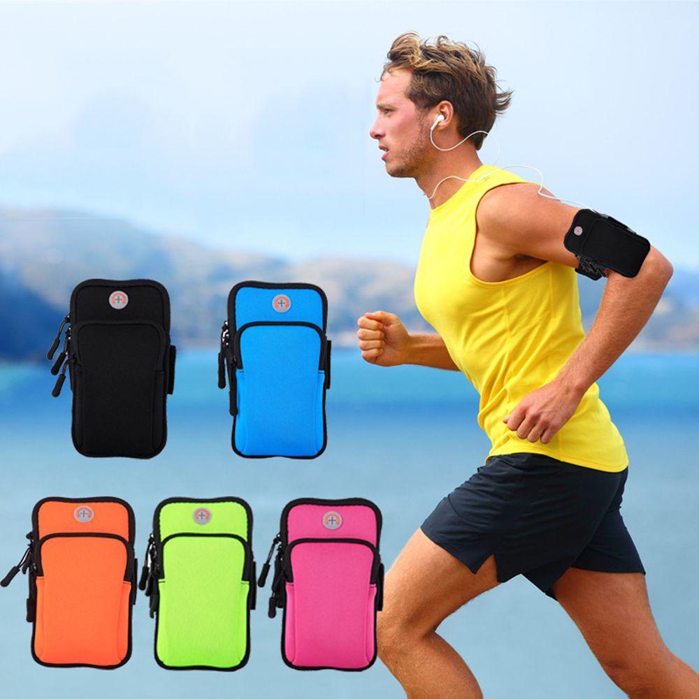Koşu Spor Çantaları Erkek Kadın Cep Telefonu Kol Bandı Paket Ekipmanları Koşu Koşu Çantası Aksesuarları Açık Tırmanma Kol Çantası iphone samsung