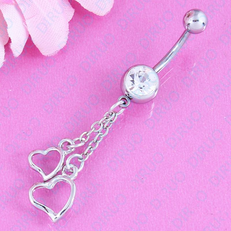 2019 Body Piercing Jewelry Fashion Belly Button Ring Hanging Hearts 14g 316l Surgical Steel Navel Bar Nickel Free From Cxk5 Price Dhgate Com