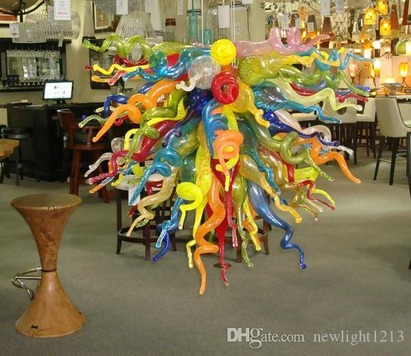 Living Room 110 / 220V AC Led Arte Vetro di Murano Luce controsoffitto Soffiato Glass Chandelier Lighting