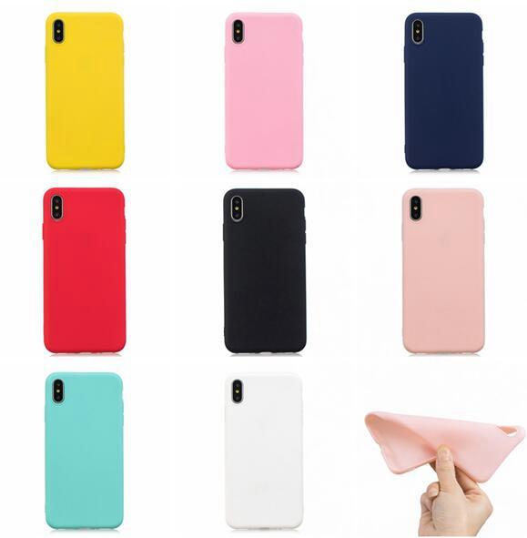 Matte Soft TPU Case For Iphone SE 2020 11 PRO XR XS MAX 8 7 PLUS 6S 5 5S Xiomi F1 6X A2 5X Redmi S2 NOTE 4 5 PRO 4X Frosted Cover 100PC