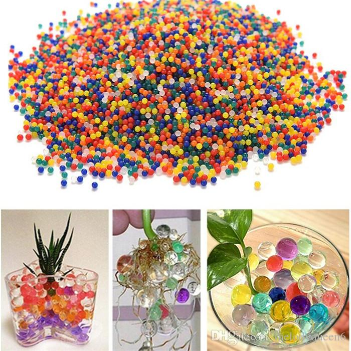 10000 unids / set Perla mágica de color Orbeez Shape Grow Crystal Water Beads Bio Water Gel Balls Grow Jelly Balls