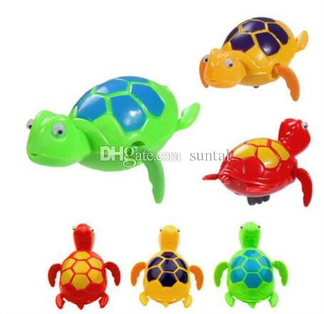 Новый 2018 ветер вверх плавание смешные Черепаха черепахи бассейн животных игрушки для детей время ванны Бесплатная доставка