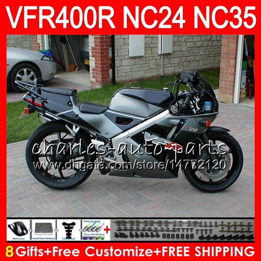 RVF400R для Honda VFR400 NC24 Р В4 VFR400R 87 88 94 95 96 81HM26 РВФ ВФР 400 р NC35 ВФР 400р 1987 1988 1994 1995 1996 серебро черный обтекатели