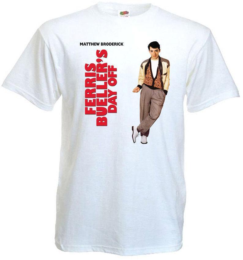 Ferris Buellers Ruhetag V.1 T-Shirt Weiß Poster Alle Größen S - 3xl Cool Kurzarm Herren T-Shirt Casual Man Tees Mens Tops