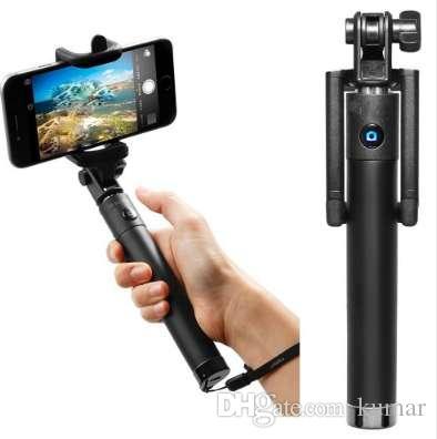 Selfiestick Palo Selfi Stik Monopod Camera Mini Pau De Selfie حامل قابل للتمديد يده بيرسي