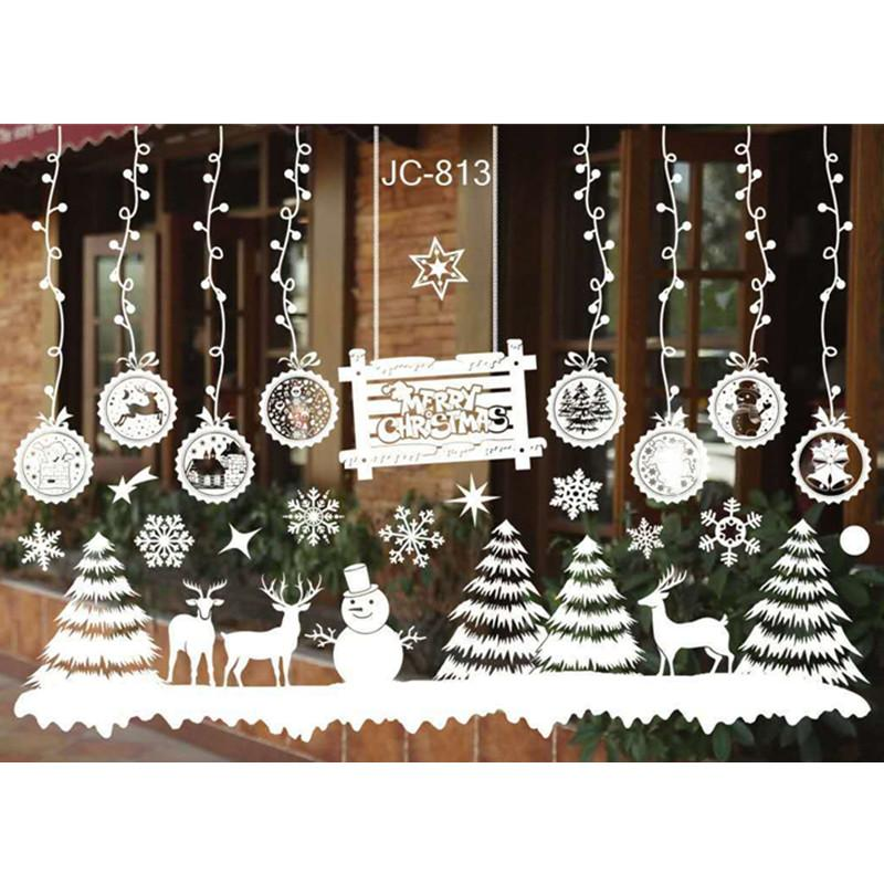 Christmas Wall Decals Removable.Diy Merry Christmas Wall Stickers Decoration Santa Claus Gifts Tree Window Wall Stickers Removable Vinyl Decals Xmas Decor Wall Word Art Wall Word