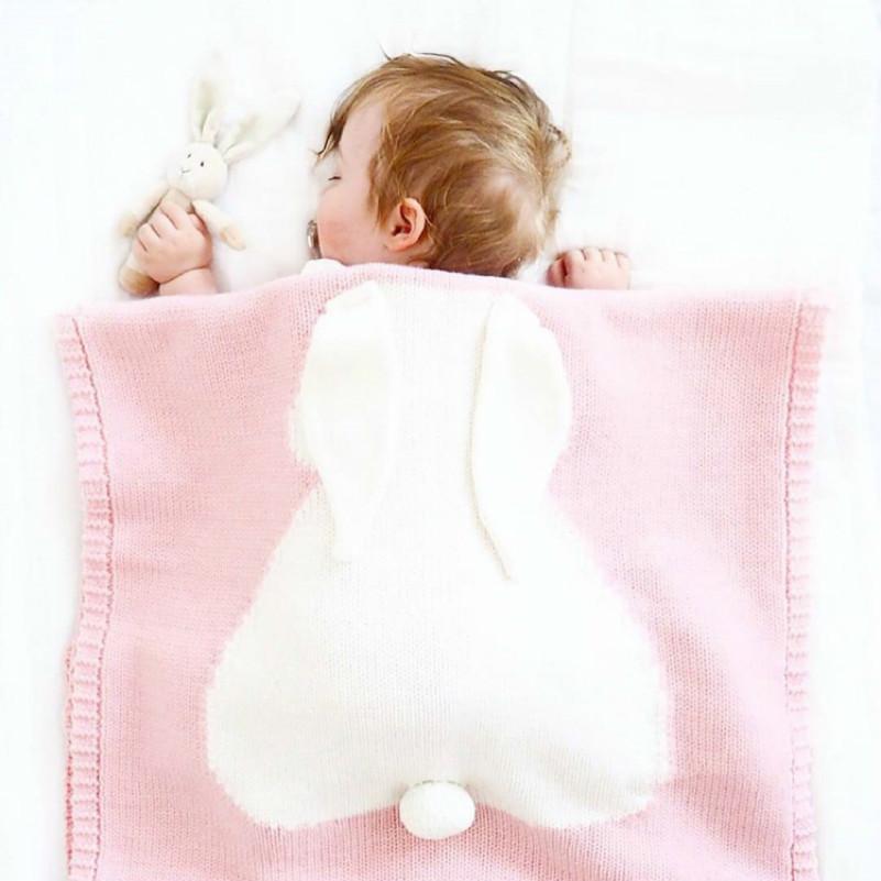 LILIGIRL Chaud Bébé Couverture De Literie Lapin À Tricoter Couverture Literie Couette Jouer Couverture Dormeur Pour Bébé Y18103008