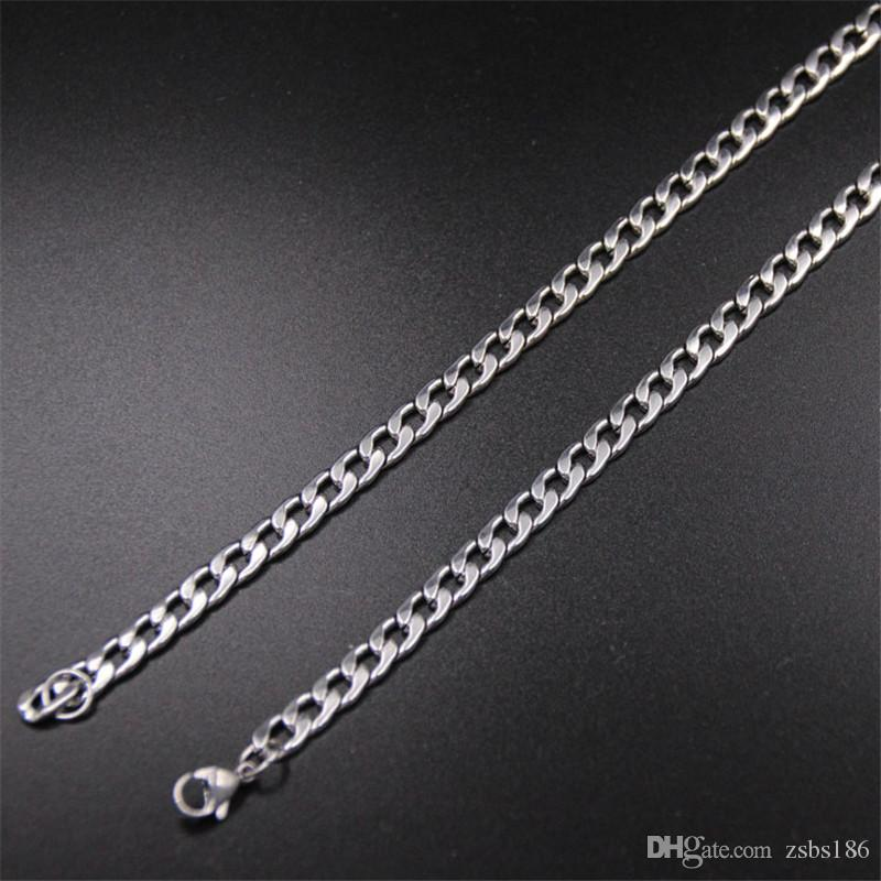 Оптовая высокое качество 4 мм из нержавеющей стали NK цепи ожерелье размер 50 см / 55 см/60 см / 70 см мужская мода ювелирные изделия Бесплатная доставка