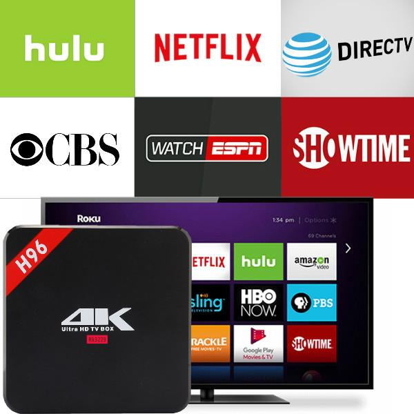 H96 Brand With 1 Year Netflix English Tidal Account Work On PC Android  Device Smartv Android TV BOX 2G16G Set Top Media Player Best Smart Tv Smart  Tv