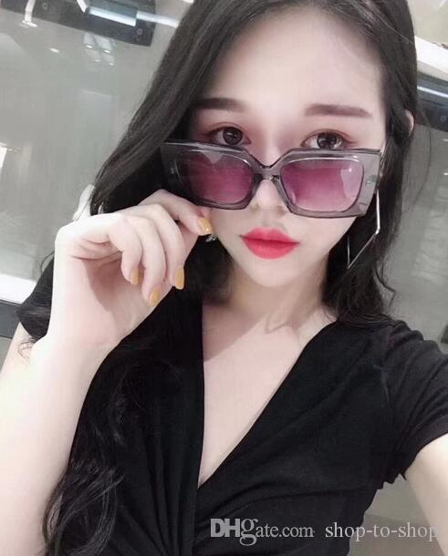 2018 Haute Qualité Surdimensionné SUN eyewear Shop Compteurs Classique Lunettes de Soleil Femmes Marque Designer De Luxe 6051 Soleil verre Rétro avec C logo