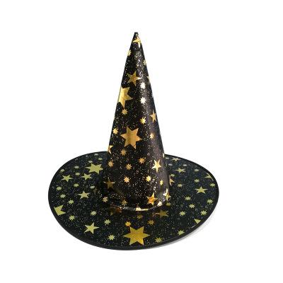 Star Print Halloween Costume Party Witch Hats Promotion Cool Children Kids Adult Oxford Costume Party Props Cap DHL Wholesale Cheap