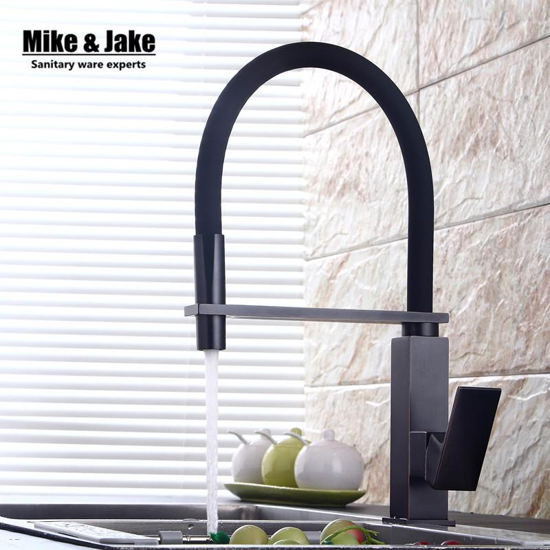 2021 New Black Pull Down Kitchen Faucet Square Brass Kitchen Mixer Sink Faucet Mixer Faucets Pull Out Tap Mj5556 From Starch 85 97 Dhgate Com