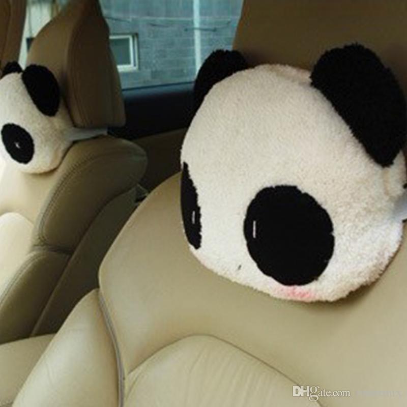 2018 Nowy Cute Cartoon Panda Pluszowe Siedzenia Samochodowe Neck Reszta Czeszcz Auto Waist Poduszki