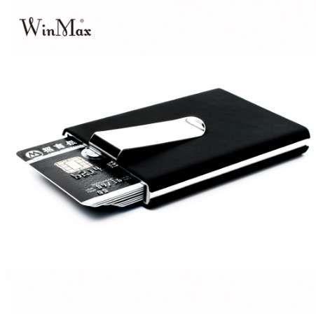 Portefeuilles Noir Étanche Titulaire de la carte Titulaire de la carte Cash Business Business Winmax Box Boîte Aluminium Hommes Carte de crédit ID Cadeau Pocket GWQGM