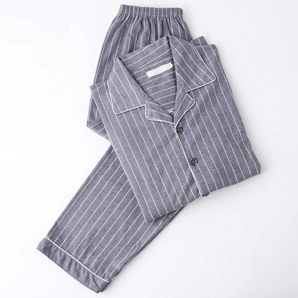 Pijama de manga larga pijama de algodón 100% pijamas pijamas de verano pijama de salón masculino pijama conjuntos más tamaño ropa de dormir 3XL