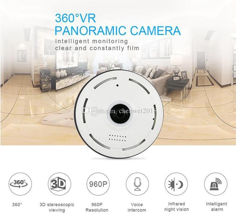 WIFI mini camera FishEye IP Camera HD 960P 1.3MP Night vision 360 Degree Panoramic Camera Home Security Surveillance CCTV Camcorder EC11-I6