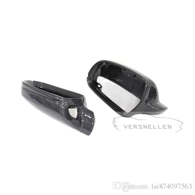 For Audi A5 S5 RS5 1:1 Replacement Carbon Fiber Rear View Mirror Cover 10-16