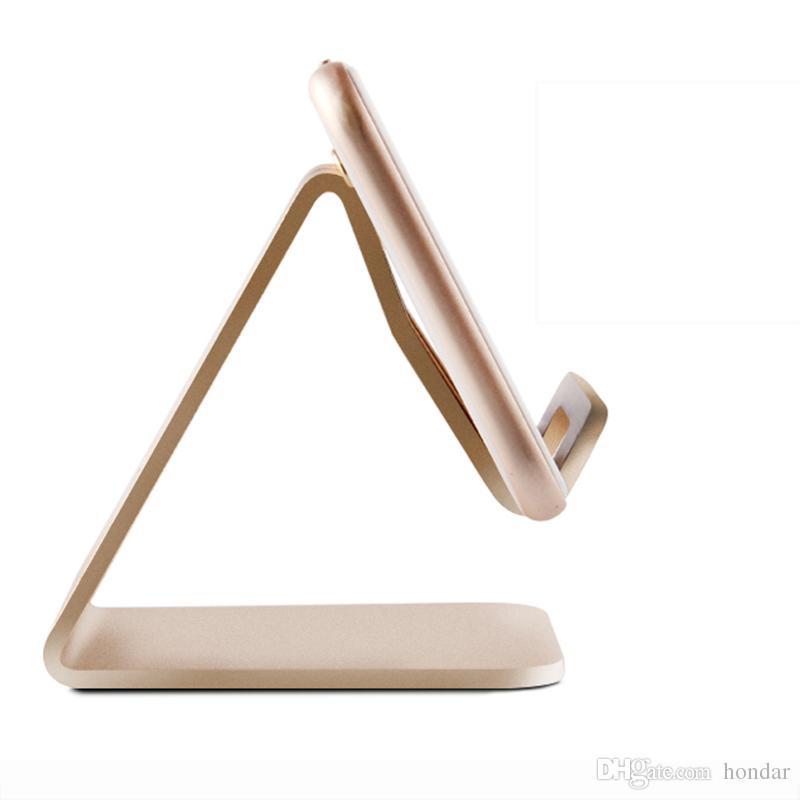 Алюминиевый металлический настольный телефон стенд держатель универсальный нескользящий держатель телефона для смарт-мобильных и планшетных автомобилей держатель телефона