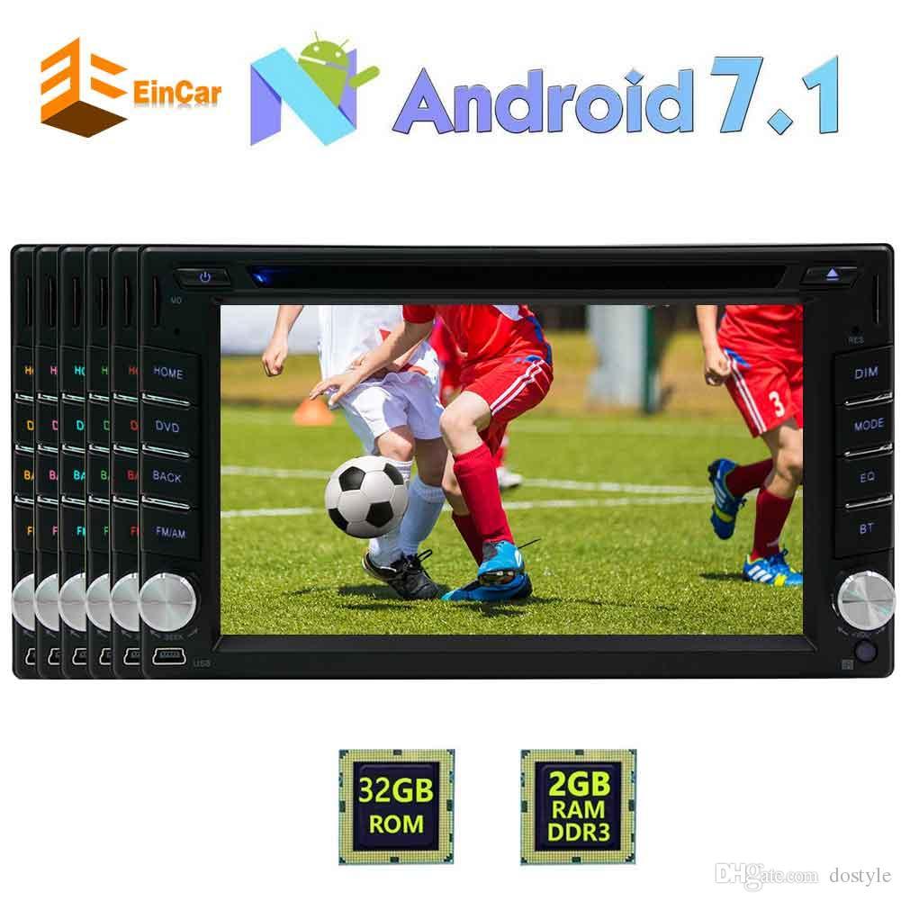 EinCar Car Stereo Android 7.1 Doble 2Din 6.2 '' Pantalla táctil Coche Reproductor de DVD In Dash Navegación GPS Auto Radio Receptor WiFi / Bluetooth