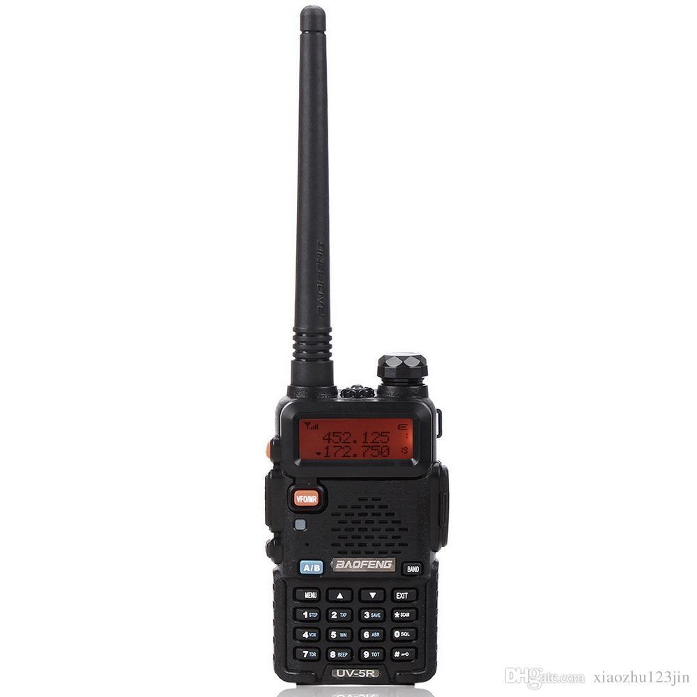 "BAOFENG 1.5 ""LCD 5W 136 ~ 174MHz / 400 ~ 470MHz Walkie Talkie de banda dual con linterna de 1 LED (Negro)"