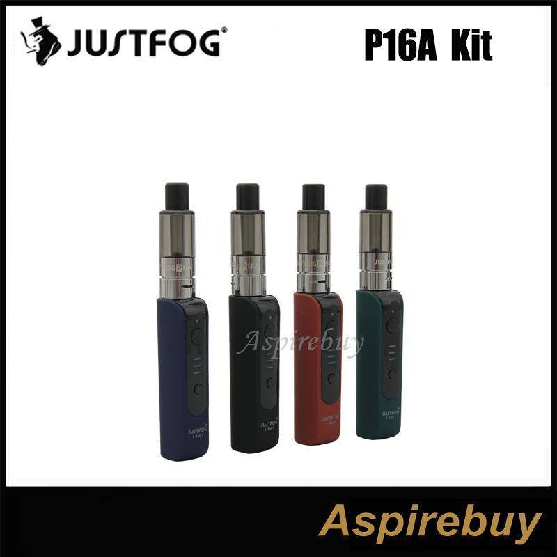 100% Original Justfog P16A Starter Kits E cig Vape Pen 900mah J-Easy 3 Battery 1.9ml P16A Clearomizer Updated Q16 kit