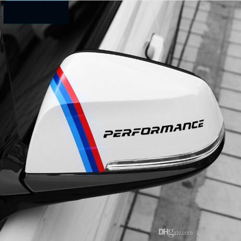 2 PC Nouveau Style Rétroviseur Autocollants Décoration Pour bmw e90 e46 f30 f10 f07 f34 x1 x3 x4 x5 e70 f15 x6 f16 M3 M5 Car Styling
