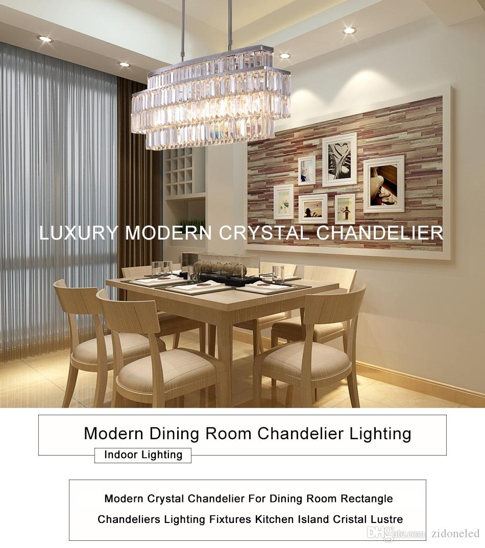 Modern Crystal Chandelier Rectangle Chandeliers Lighting Fixtures Luxurious  Led Pendant Lighting Fixtures For Dining Room Chandelier With Fan Girls ...