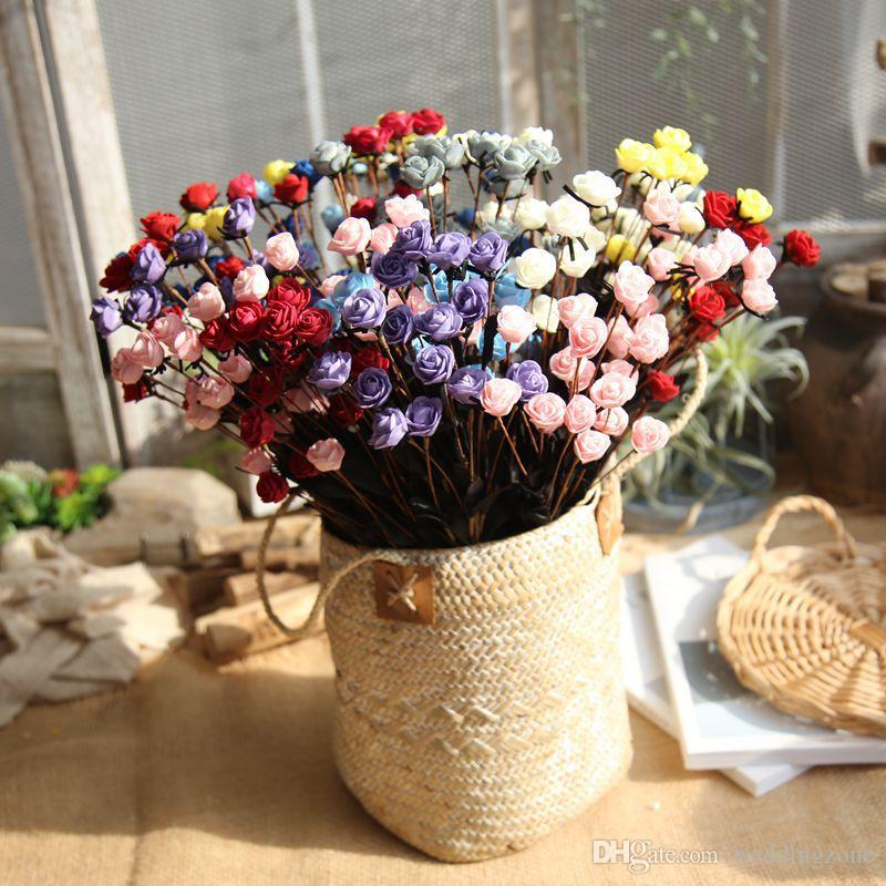 Pastoral style 15 Heads/Bouquet Roses with Silk flower heads 50 cm Artificial flowers Silk Flower For Wedding/Home Decoration