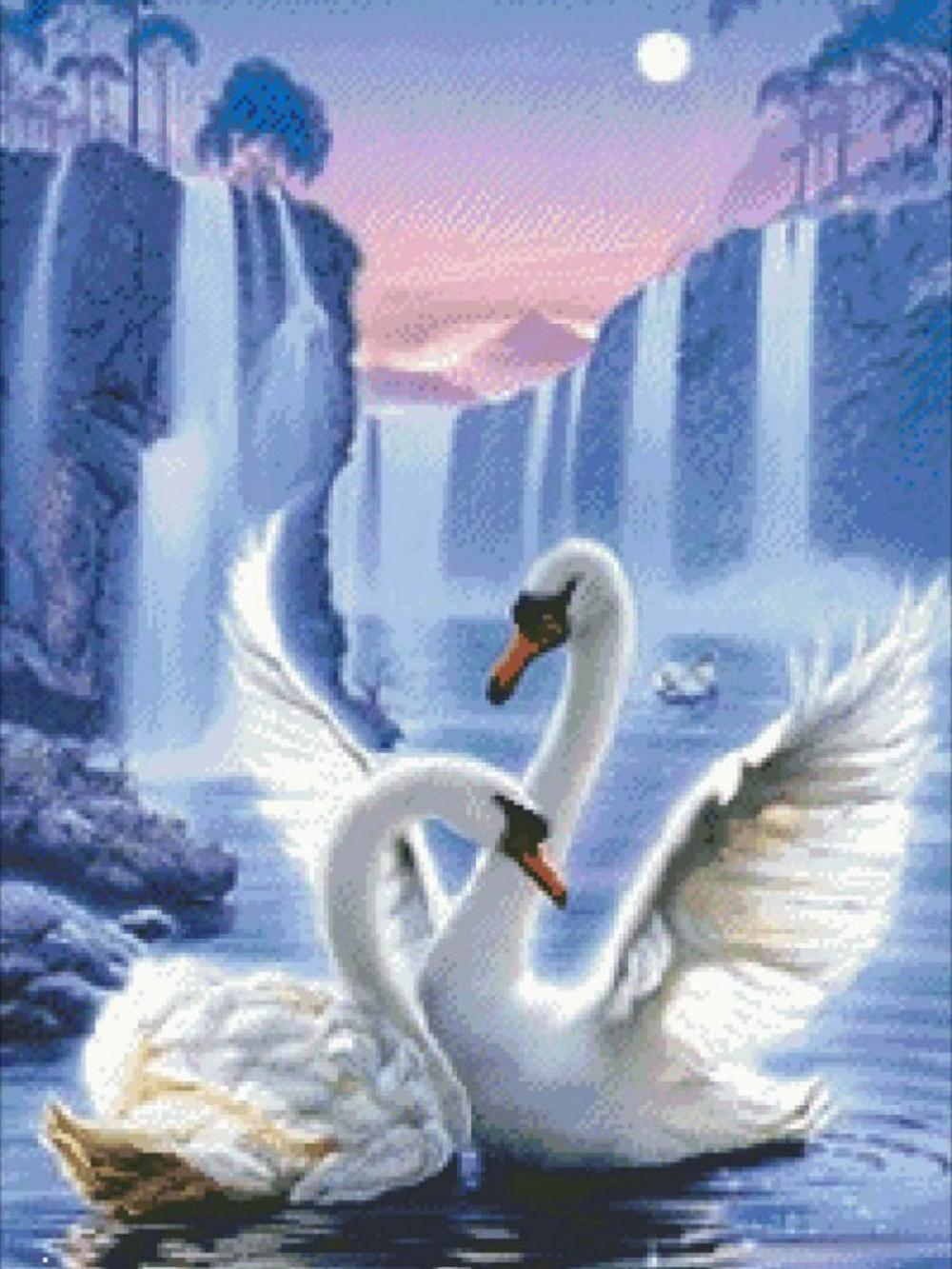 A1294 Swan 30 * 40 CM 5D DIY Beste Diamant Stickerei Malerei Wohnkultur Diamant kreuzstich 100% Harz Werkzeug dril Malerei Mosaik Hand