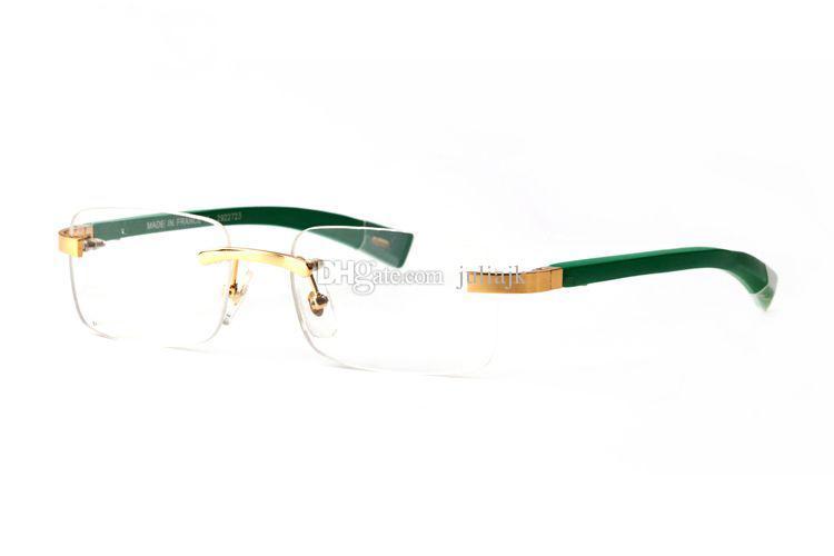 Fashion designer in legno occhiali da sole corno bufalo senza montatura lenti trasparenti lettura Anti Radiation montature da vista per occhiali da vista da uomo