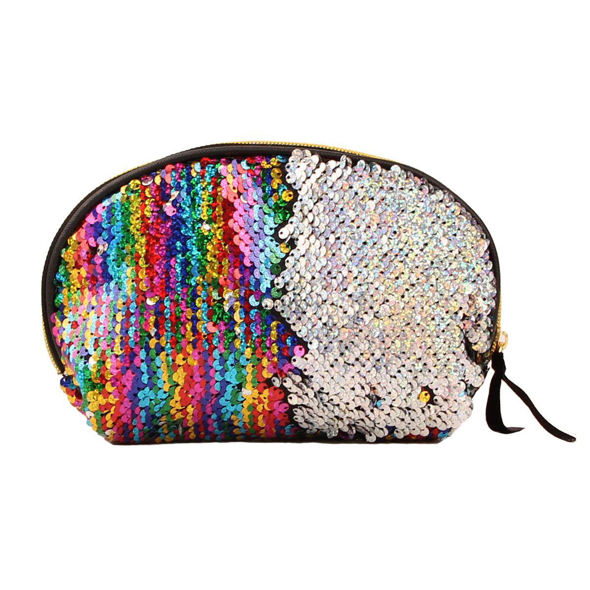 7 ألوان جديدة وصول المرأة كوميستيك حقيبة عملة الحقيبة تخزين سستة الترتر محفظة حقيبة مقلمة حقيبة ماكياج التجميل حقيبة شحن مجاني