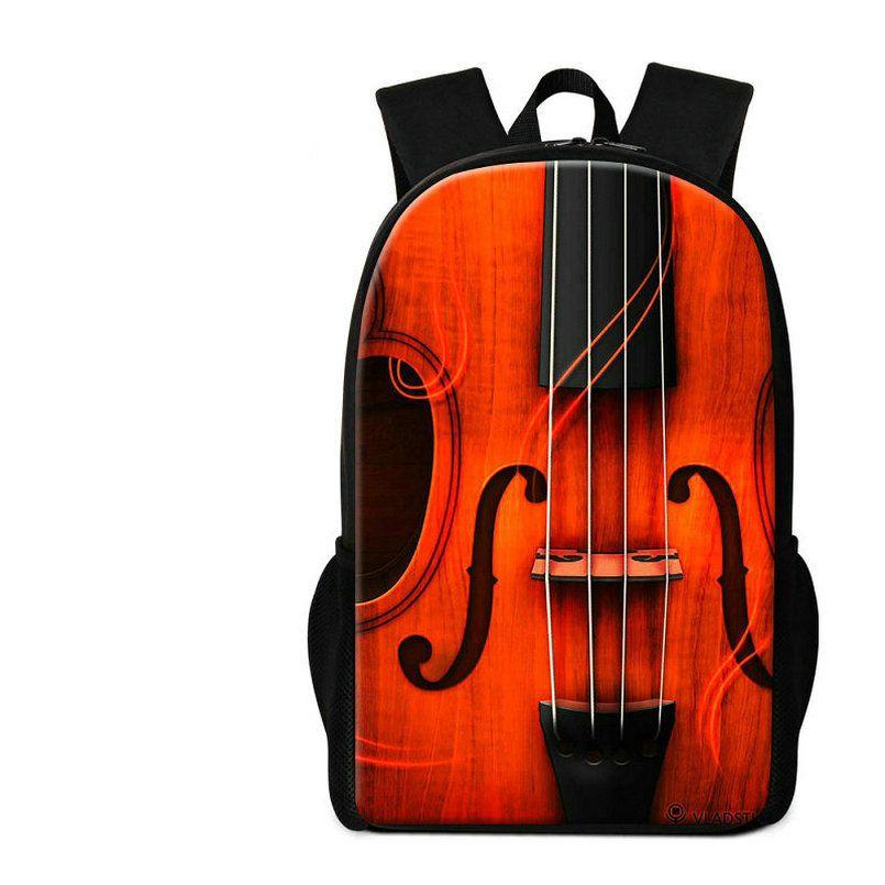 Violin Pattern Schoolbags For Children Musical Backpack For Primary Students Girls Novelty Mochilas Women Travel Shoulder Bags Rucksack Pack