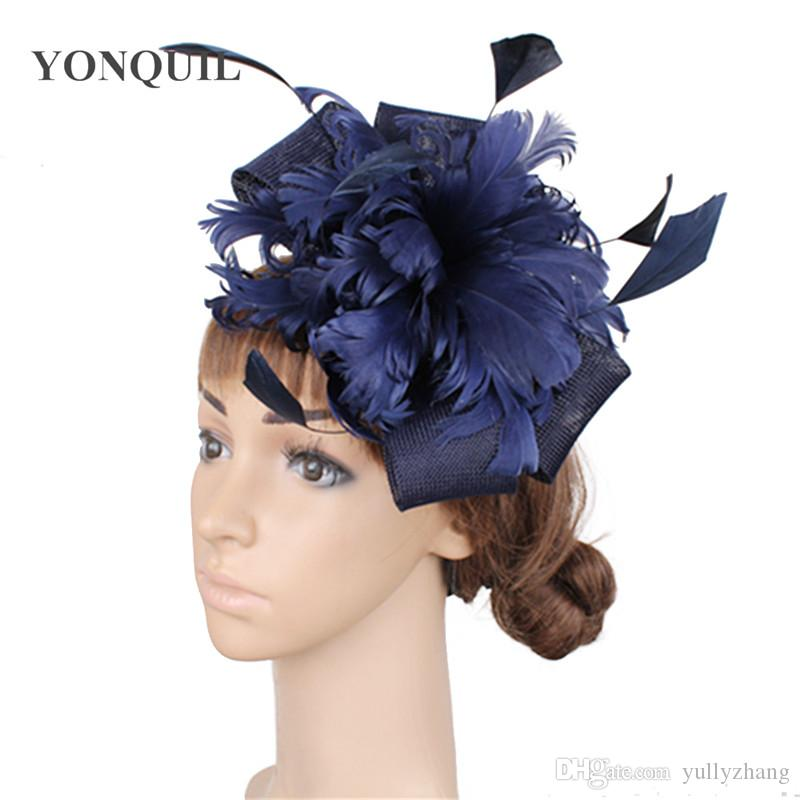 Ladies Accessories Feather /& Flower Hair Fascinator For Evening Party Wedding