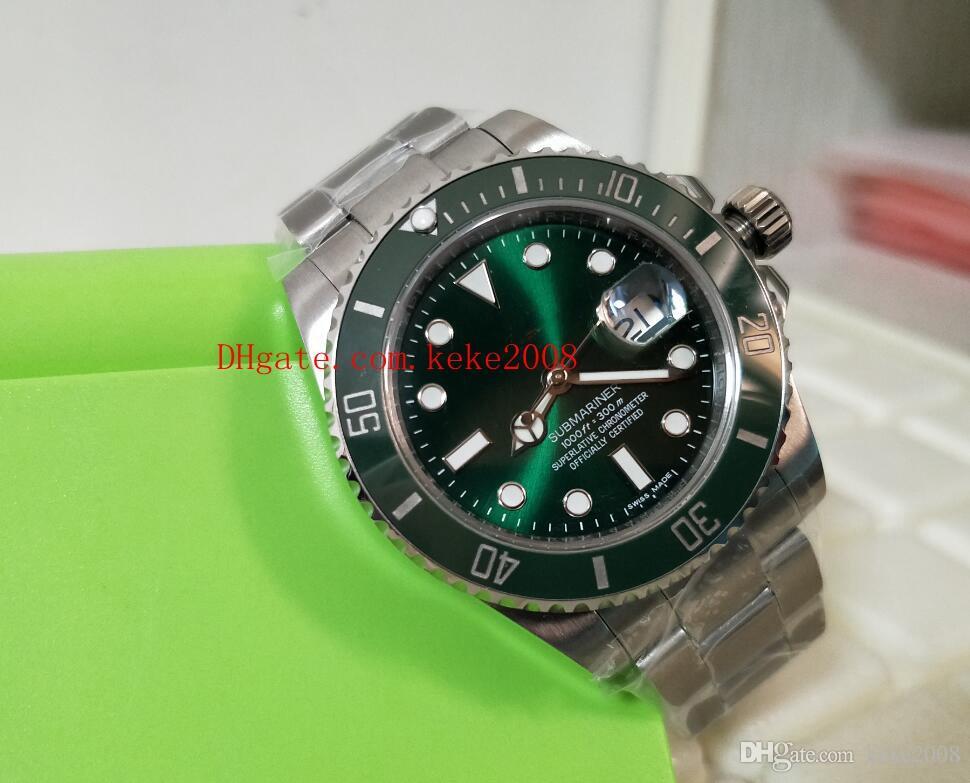Luxo de alta qualidade pulso BP fábrica 116610 116610LV Ceramic Bezel Aço Inoxidável Asia 2813 movimento automático dos homens Relógios do relógio