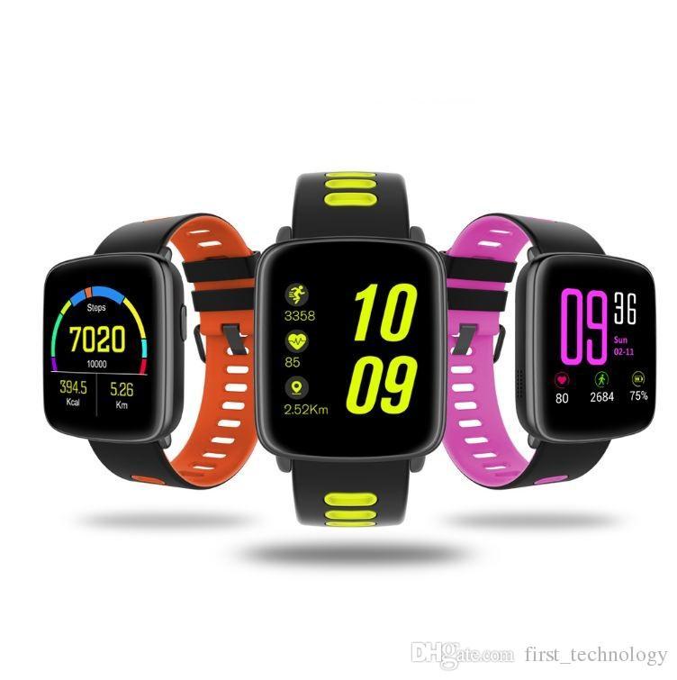 GV68 스마트 시계 남자 여자 IP68 방수 MTK2502 SmartWatch 전화 착용 가능한 장치 아이폰 안드로이드에 대한 심장 박동수 테스트