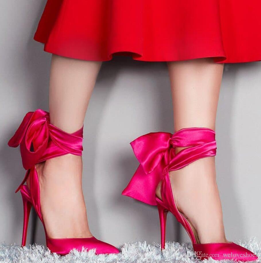 Hot Pink And Black Heels
