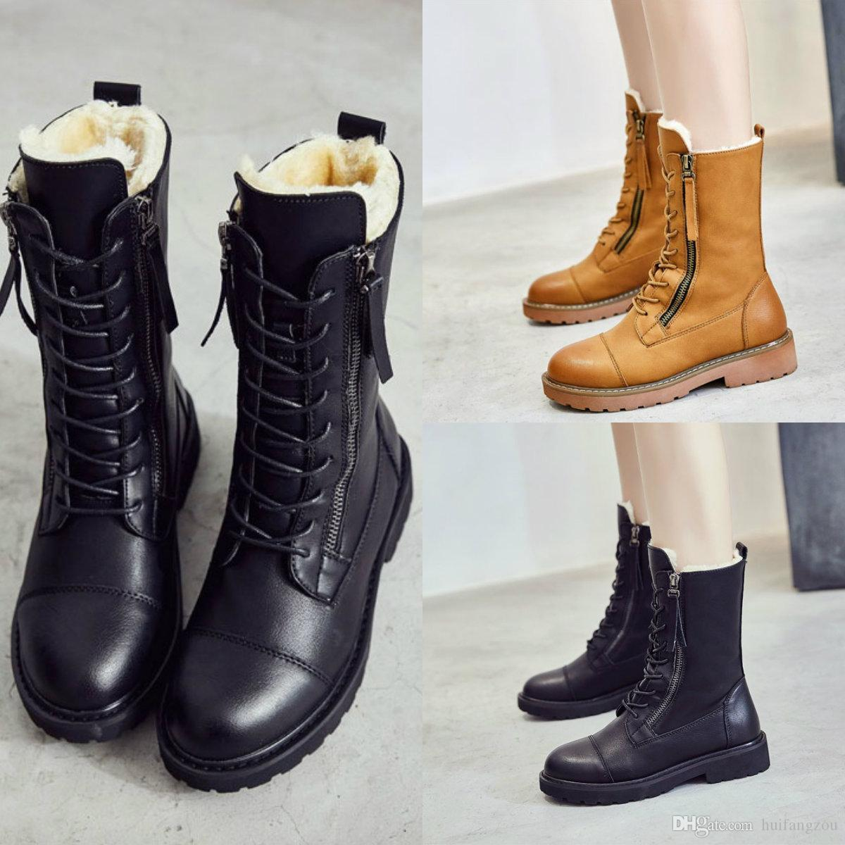 Winter Genuine Leather Shoes Top