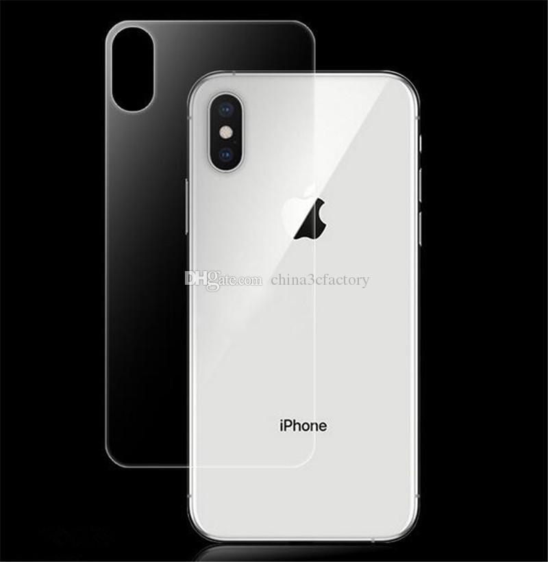 the best attitude 4d108 65dd1 Premium Back Tempered Glass For IPhone XS Max 2.5D Film Cover Rear  Toughened Screen Protector For IPhone XR XS Glass Film Anti Glare Screen  Protectors ...