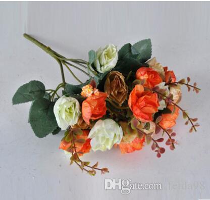 Flor de simulación, estilo europeo Autumn Edition Diamond Rose, flor decoración flor fotografía Photo Props L116
