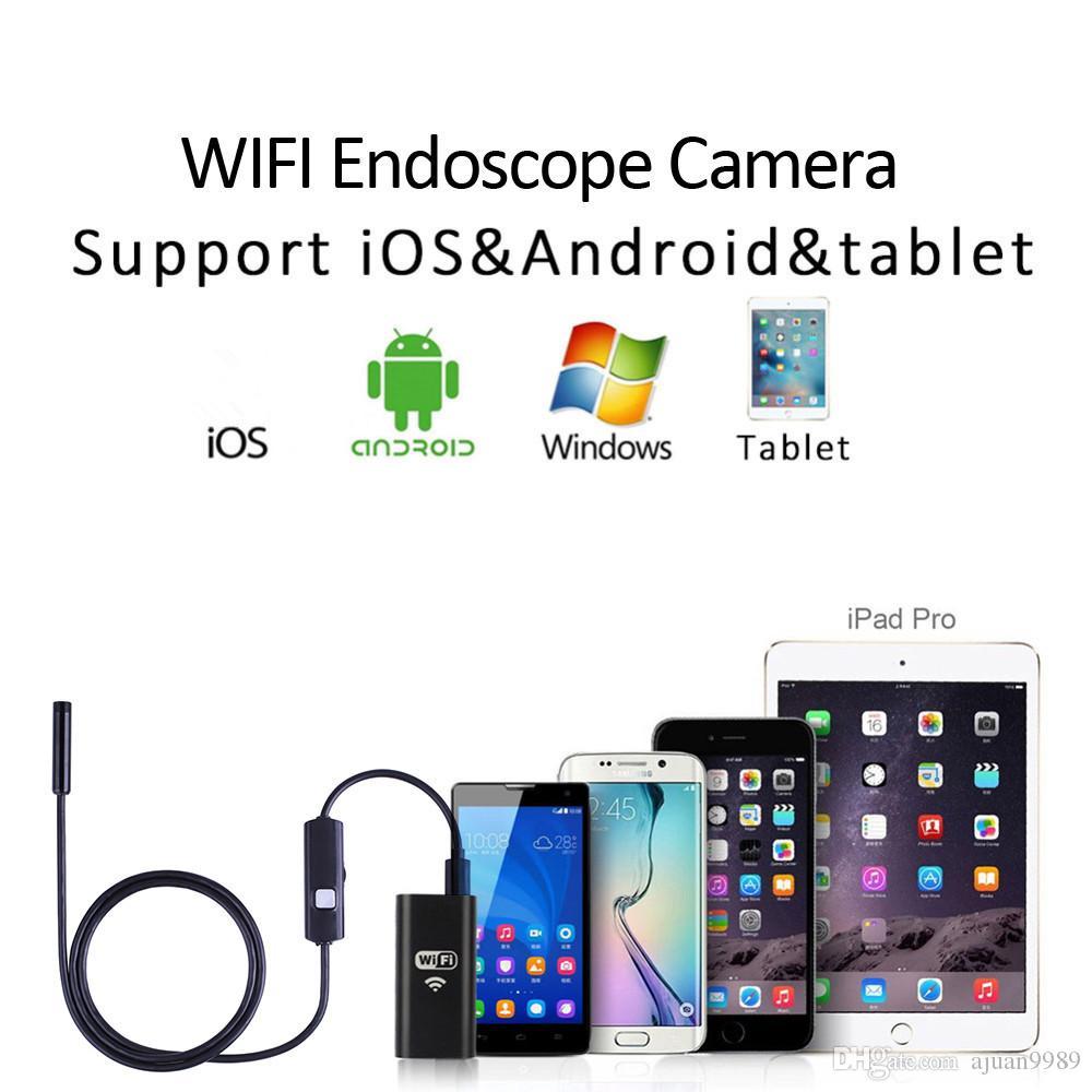 6LED 2M كبل ثعبان WIFI أندرويد IOS كاميرا المنظار HD 720P 8MM IP68 للماء الأنابيب التفتيش الكاميرا