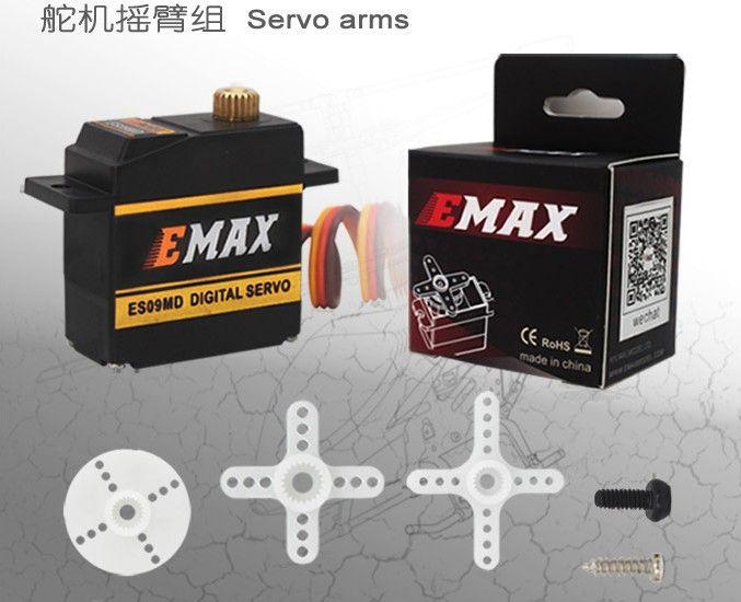 FREIES VERSCHIFFEN 3 STÜCKE Digital Servo EMAX ES09MD Dual-lager Spezifische Swash Servo für 450 hubschrauber flugzeug flugzeug schwanz servo