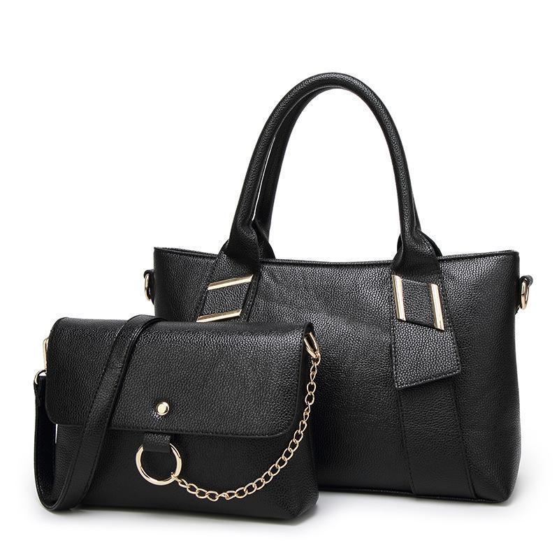 Große Zwei Tasche Designer Handtaschen Crossbody Tasche Frauen Stück Tote Set Damen Neue Kette Taschen Leder Marken Umhängetaschen Muster Frauen LYC MFKP
