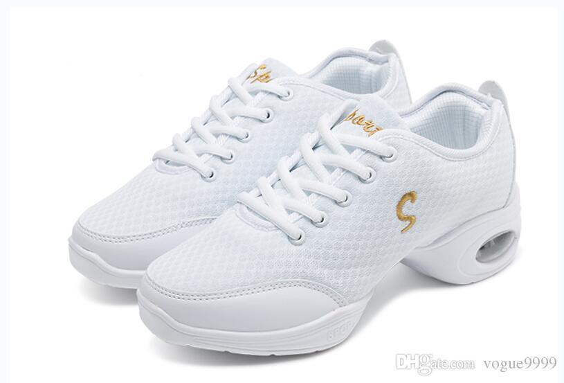 ENVÍO GRATIS nuevas Mujeres Zapatos Deportivos Zapatos de Lona de Moda Aptitud Superior Jazz Moderno Zapatillas de Hip Hop Zapatos de Baile zapato de lona