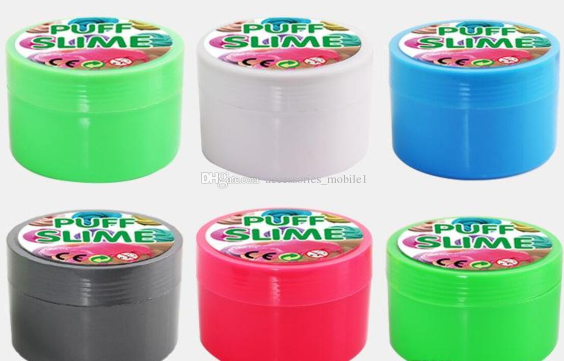 뜨거운 판매 면화 진흙 슬리퍼 PUFF SLIME plasticine DIY 파고 웅덩이 감압 벤트 장난감 공장 아울렛 무료