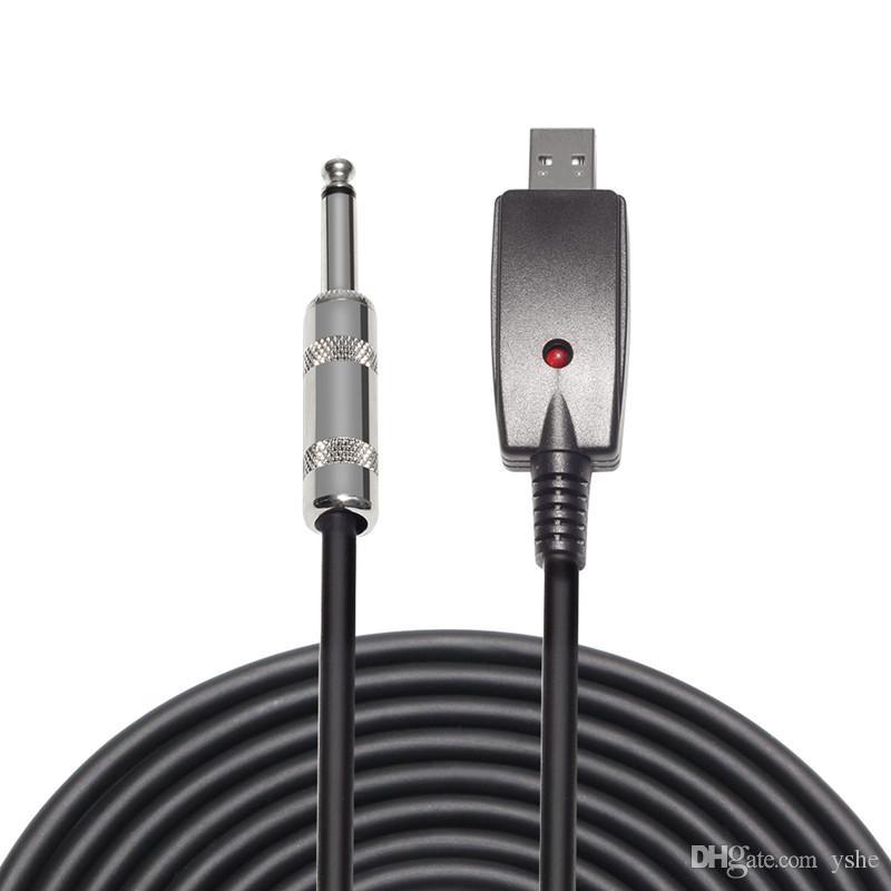 Usb إلى 6.35 ملليمتر كابل غيتار كهربائي محول تأثيرات الصوت منظم 3 متر الملحقات الغيتار كابل usb الموسيقية