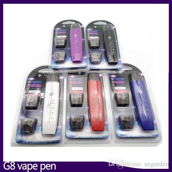 G8 vape kalem kiti Çift mermi düz duman 300 mAh ile 1 ml Pamuk çekirdek atomizer Vape kalem pil mod VS suorin bırak 0268084-1