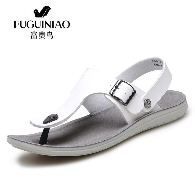 FUGUINIAO Homens Sandálias Chinelos de Couro De Microfibra Ao Ar Livre Ocasional dos homens Sapatos de Verão Sandálias Gladiador Para O Homem C603926P
