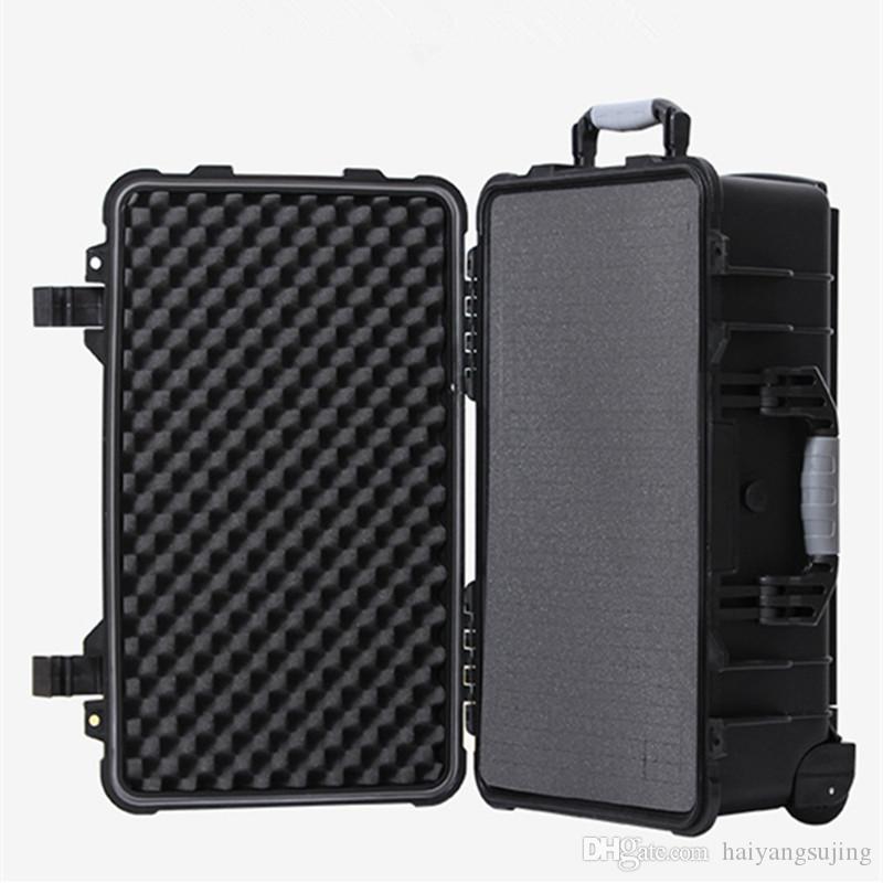 20/24/30 Zoll-Trolley-Tasche Sicherheitsinstrument Werkzeugkasten Aufbewahrung Werkzeuge Wasserdichtes IP67 Equip Reise Draw-Bar Stoß- Sponge Gepäck