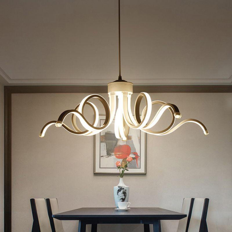 새로운 스타일! 패션 스타일 현대 주도 천장 조명 웨이브 스타일 아크릴 LED 마운트 빛을 집에 대 한 주도 부엌 침실